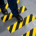 Ruban adhesif antiderapant avertisseur de danger
