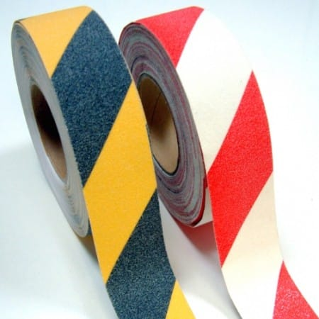 Ruban adhesif antiderapant avertisseur de danger en rouleau